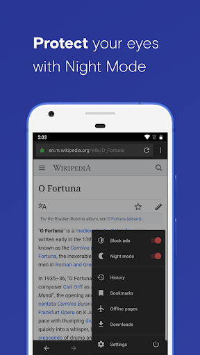 Opera with free VPN image | 8