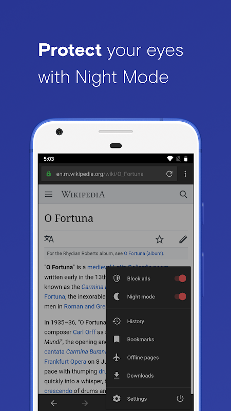 Opera Browser: Fast and Secure screenshots