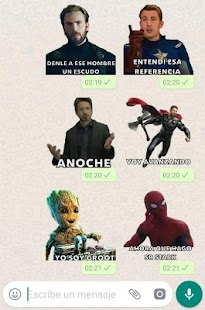 Stickers de Avengers en español para WhatsApp Screenshot