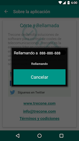 android CorteRellamada Screenshot 3