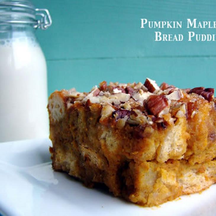 Pumpkin Maple Nut Bread Pudding Recipe