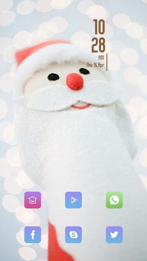 Cute Santa Claus toy theme