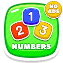 Learning numbers 123 kids - Count Trace And Quiz icon