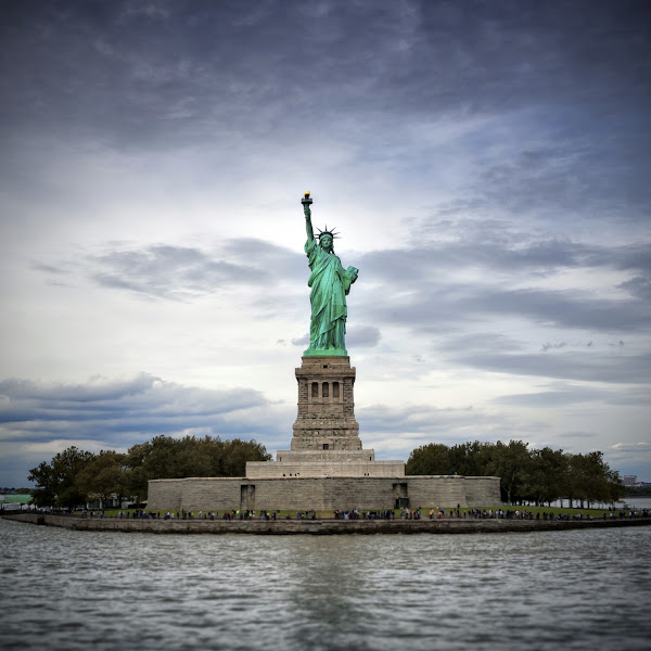 Photo: Liberty Island - Retina iPad Background