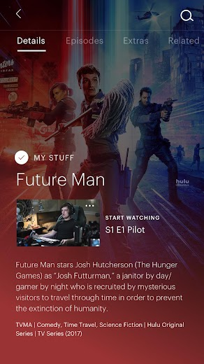 Screenshot 2 for Hulu's Android app'