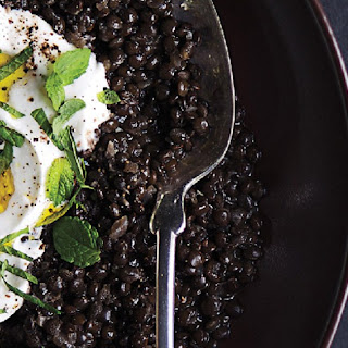 Spiced Black Lentils with Yogurt and Mint Recipe