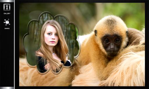 無料摄影Appのおかしい猿のフォトフレーム|記事Game