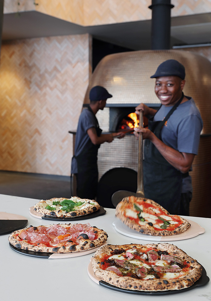 Saint's wood-fired ovens make all the difference.