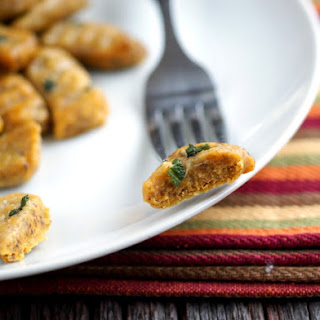 "Pumpkin Palooza: Grain-Free, Egg-Free, Gluten-Free Pumpkin Gnocchi with Browned Sage ""Butter""."