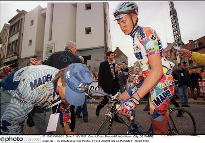 Lefevere, Peeters & co praaten na over zege van Vandenbroucke in Gent-Wevelgem '98