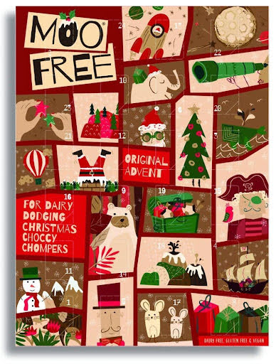 Adventskalender /chokladkalender  2021 - Moo Free - mjölkfri choklad