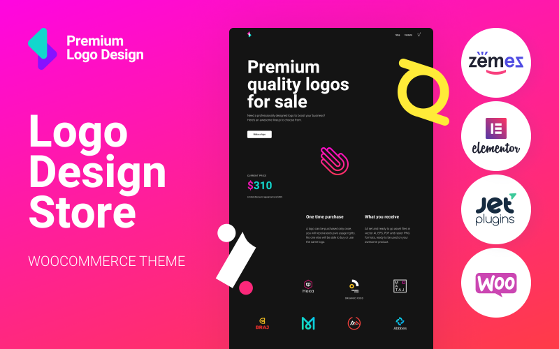 Fastest WooCommerce themes Logoster