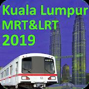 Kuala Lumpur (KL) MRT LRT Train Map 2019