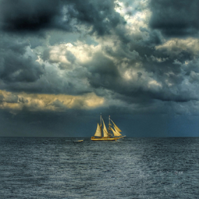 Storm is coming... by Milena Radić - Landscapes Cloud Formations ( #storm #clouds #sailing #sea #navigation,  )