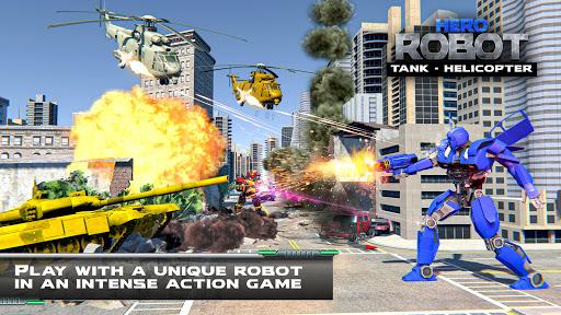 Helicopter Transform War Robot Hero: Tank Shooting 1.1 screenshots 3
