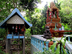 Photo: Day 323 - Buddha Alter and Spirit House in Grounds of Dream Hotel