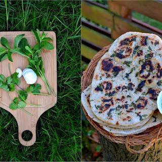 Buttery Herb & Garlic Naan.