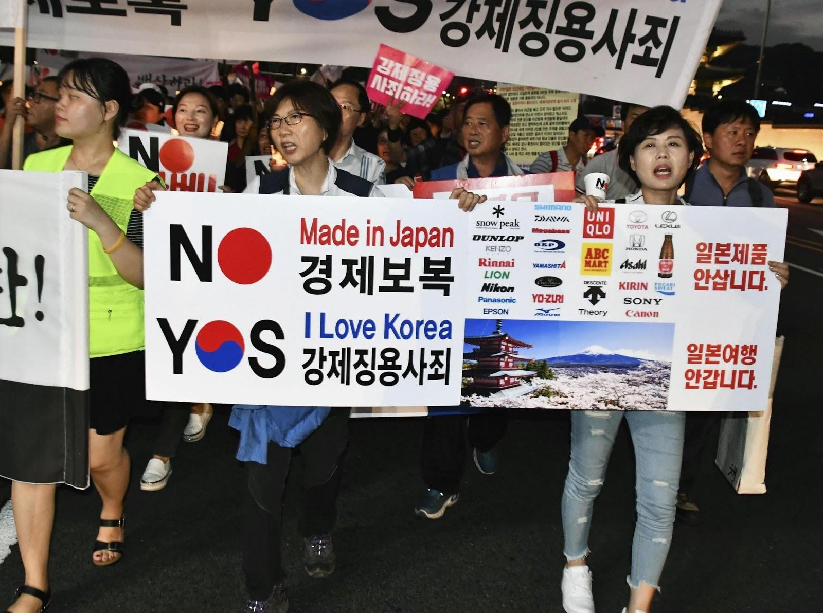 Корея Япония 2019 мама бойкот 1