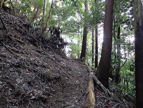 左斜面の道を登る