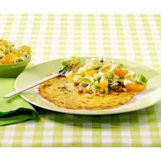 Pannenkoeken Met Een Frisse Salade