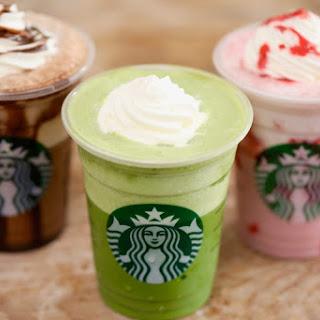 Starbucks Green Tea Frappuccino.