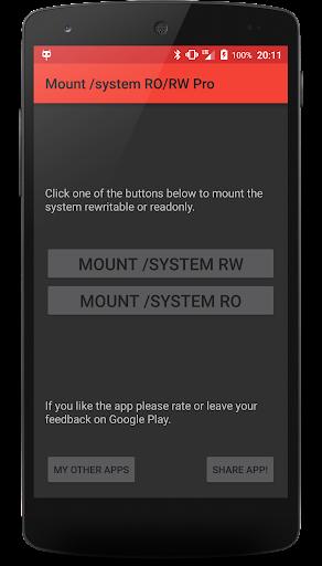 Mount system RO RW Pro [ROOT]