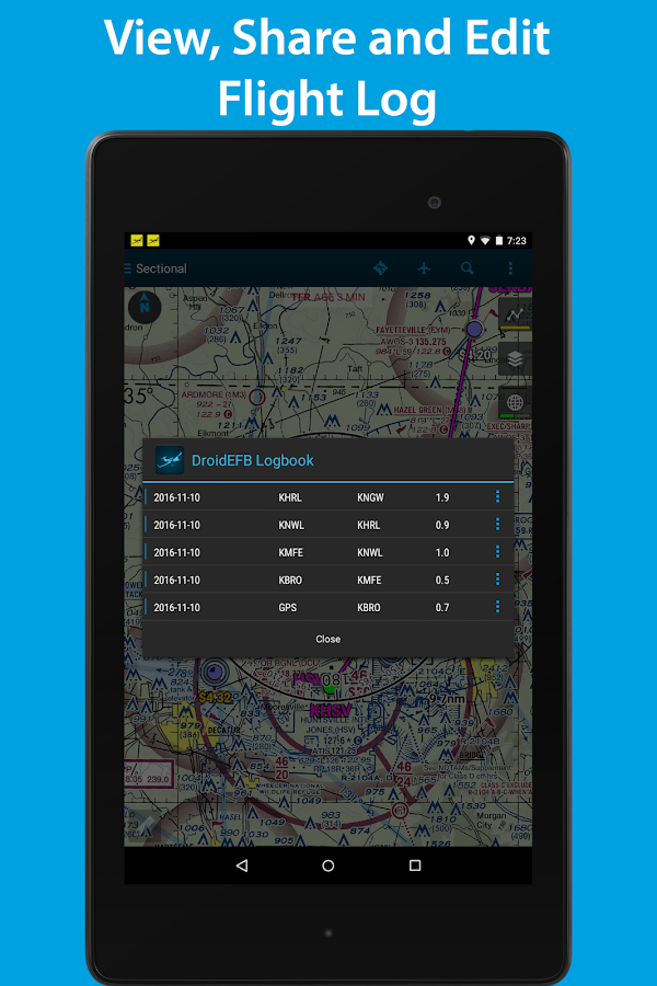 DroidEFB - Fly with Android- screenshot