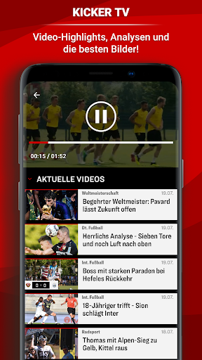 kicker Fuu00dfball News 5.7.0 screenshots 4