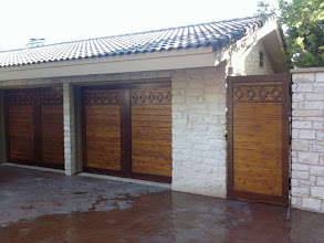 Photo: Complete Set. In this project we built the doors and the gate to match.