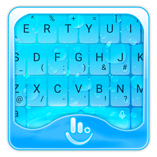 Blue Water Drops Keyboard Theme