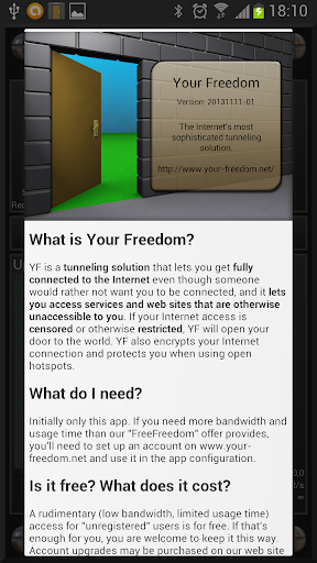 Your Freedom VPN Client 20190701-01 screenshots 1