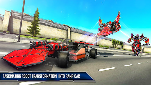 Ramp Car Robot Transforming Game: Robot Car Games screenshots 6