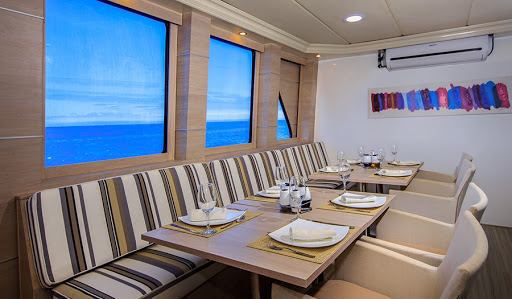 Menus feature tasty international cuisine and Ecuadorian dishes aboard Treasure of Galapagos, the expedition ship from Avalon Waterways.