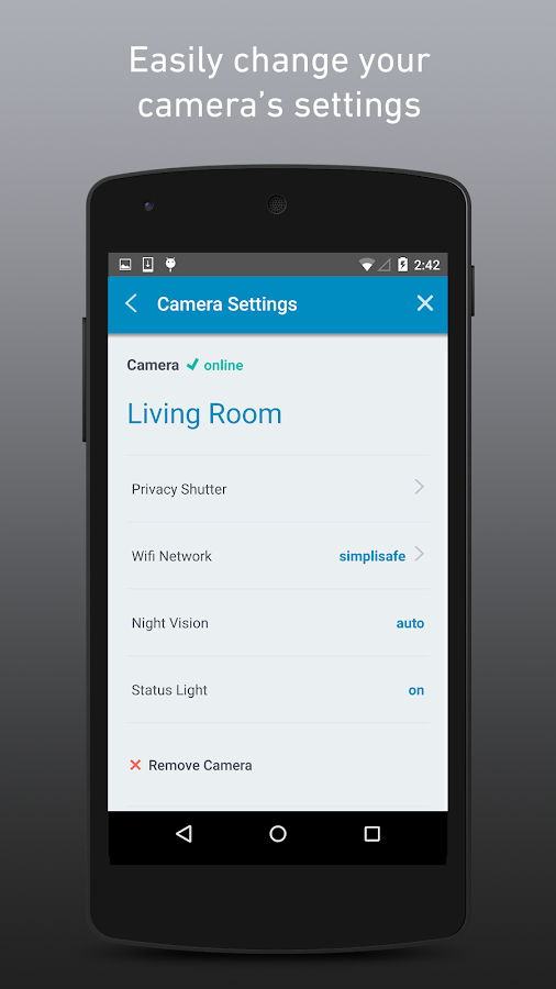 SimpliSafe Home Security App- screenshot