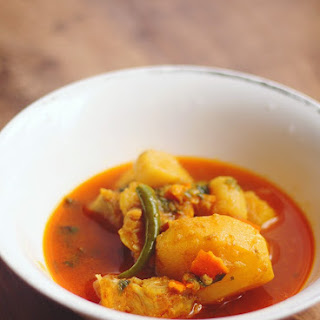 Bengali Fish Curry with Potato and Orange