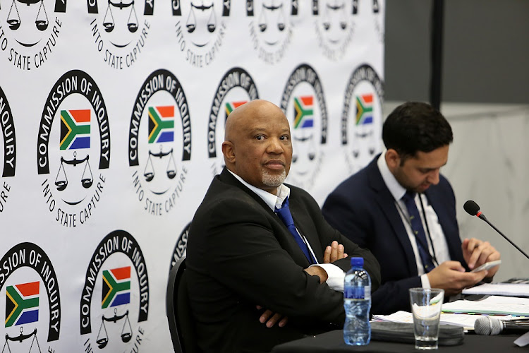 Former deputy finance minister Mcebisi Jonas during an earlier appearance at the state capture inquiry.