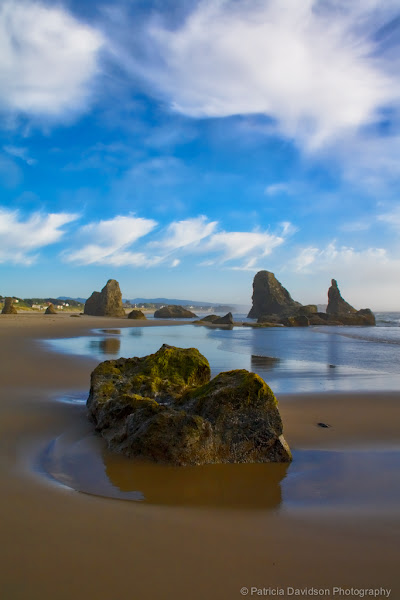 """Photo: This is an photo I took in Bandon, Oregon a couple of years ago. Hope you have a wonderful day!  """"Rock on in Bandon"""" by © Patricia Davidson http://patriciadavidsonphotography.com http://blog.patriciadavidsonphotography.com http://facebook.com/pddesignsimages  #ThirstyThursdayPics by +Giuseppe Basile& +Mark Esguerra #landscapephotography by +Margaret Tompkins #bandon #oregoncoast #pacificnorthwest  #photography"""