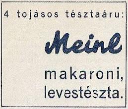Photo: Reklama makaronu Meinl - 1935 r.