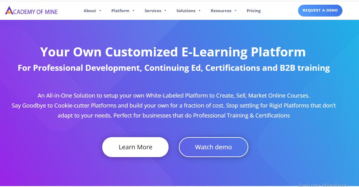 Online Course Platform - Academy Of Mine