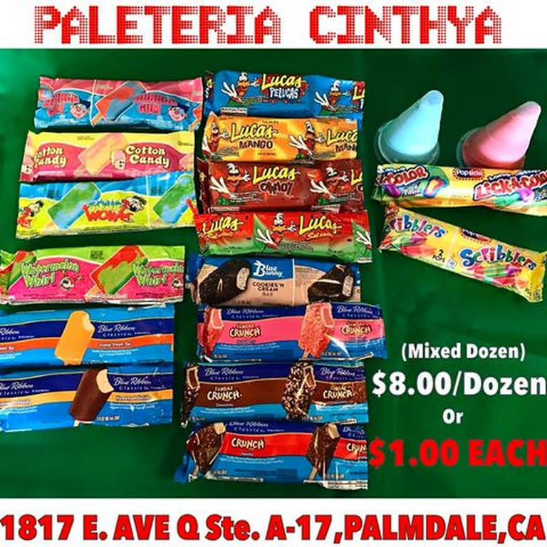Paleteria Cinthya Ice Cream Shop In Palmdale