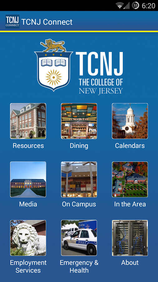 TCNJ Connect- screenshot