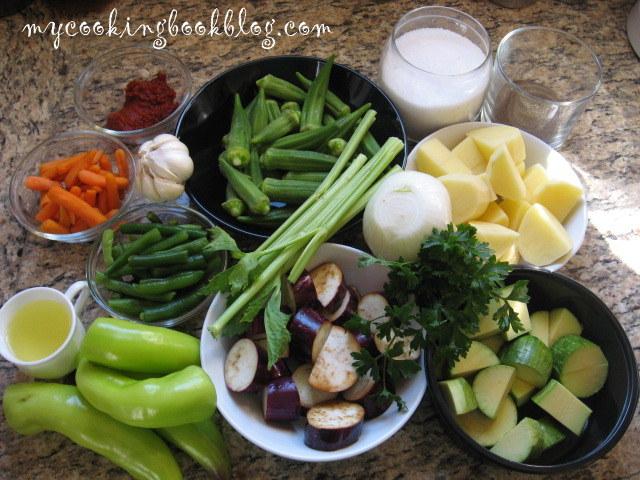 Гювеч със зеленчуци