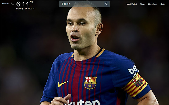 Andres Iniesta Wallpapers Theme New Tab