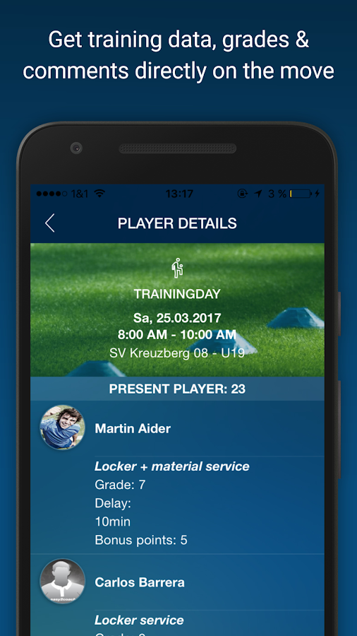 Soccer Team Manager- screenshot