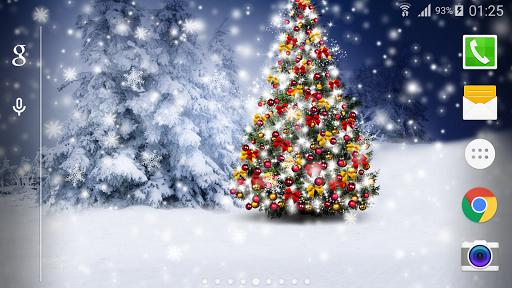 聖誕雪夜景動態桌布Free