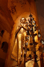 Photo: Year 2 Day 57 - Buddha and Ornaments in  Ananda Temple