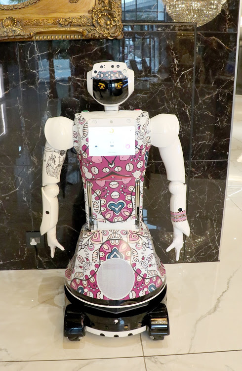 Lexi, one of a trio of AI-powered robots at Hotel Sky.