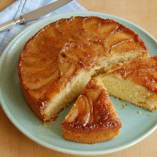 Apple And Coconut Upside Down Cake.