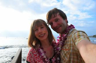 Photo: Us at theOld Lahaina Luau.