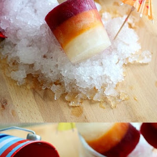 Longan Mango and Pomegranate Popsicle